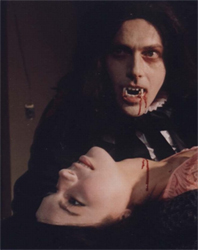 dracula in a coffin